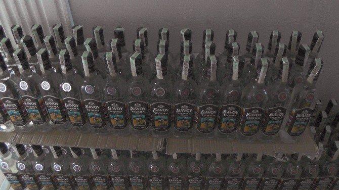 Edirne'de Kaçak İçki Ve Çay Ele Geçirildi