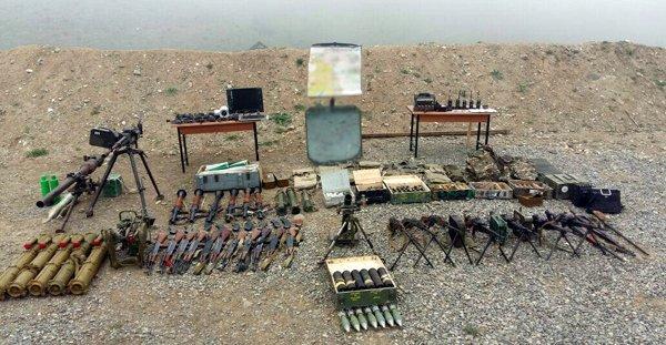 Ermeni askerleri terk ettikleri mevzilerde çok sayıda silah bıraktı