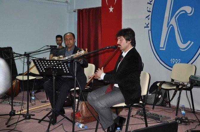 """Kağızman'da Türk Halk Müziği'nde """"Çalgılar Ve Algılar"""" Müzik Dinletisi"""