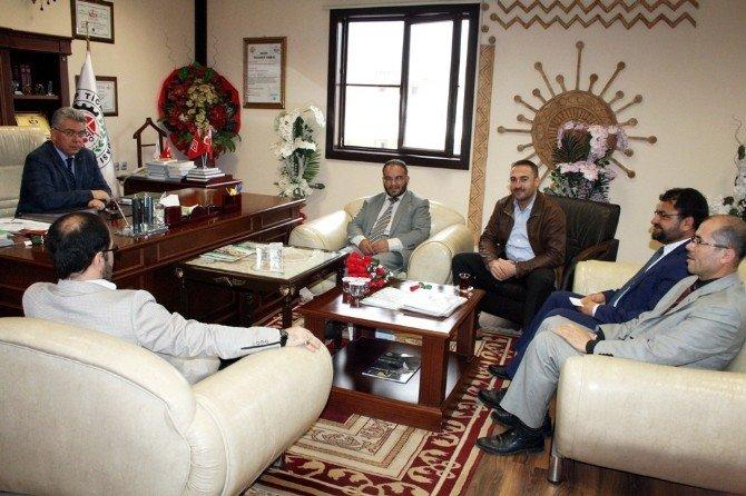 Müftü Osman Şekerci Nto Başkanı Mehmet Özyurt'u Ziyaret