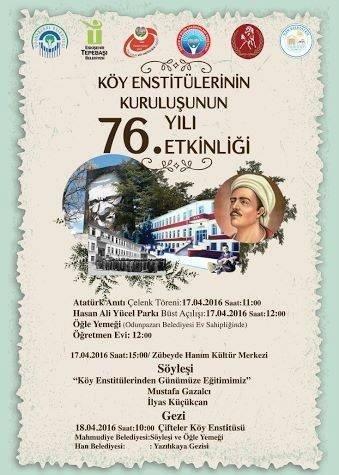 Köy Enstitüleri'nin 76. Kuruluş Yıl Dönümü Hazırlığı