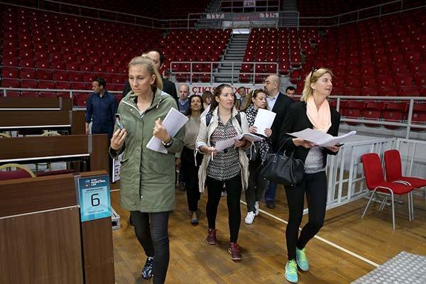 TBF ve FIBA heyetleri, Abdi İpekçi Spor Salonu'nu da inceledi