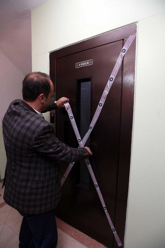 Kullanıma uygun olmayan asansörler mühürleniyor