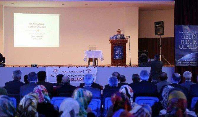 """Bozok Üniversitesi Rektör Yardımcısı Prof. Dr. Özköse, """"Hz Peygamber Tevhit Ve Vahdet"""" Konulu Konferans Verdi"""