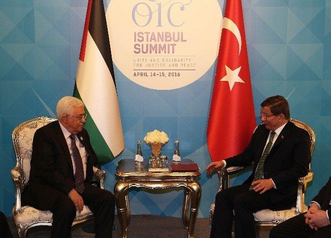 Başbakan Davutoğlu İle Filistin Devlet Başkanı Abbas Görüştü
