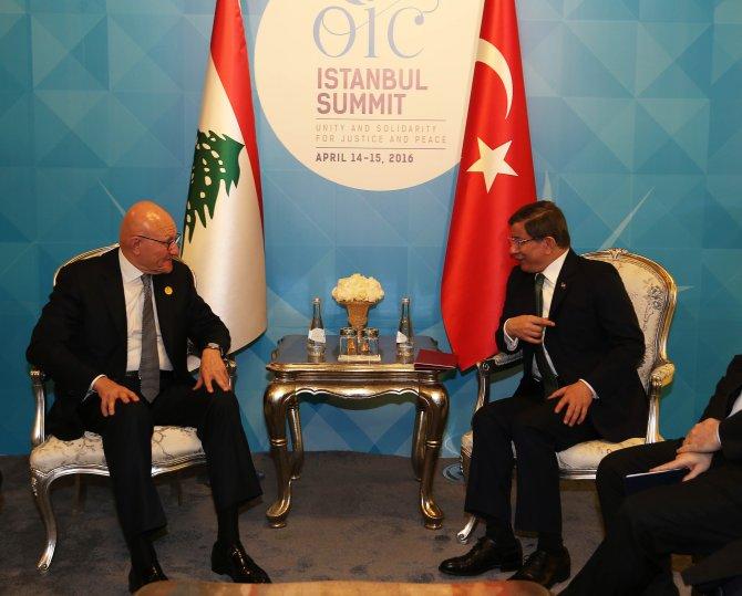 Başbakan Davutoğlu, Lübnan Bakanlar Kurulu Başkanı'yla görüştü
