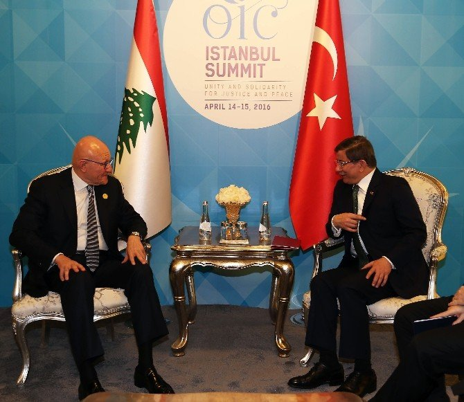 Başbakan Ahmet Davutoğlu Lübnan Bakanlar Kurulu Başkanı Salam İle Görüştü