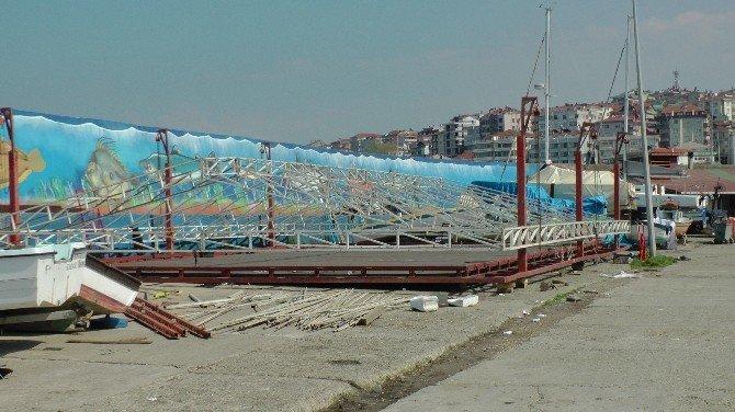 Akçakoca'da Balıkçı Barınağına Lunapark Kuruluyor