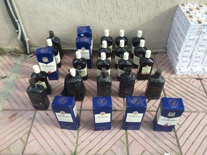 Kula'da Gümrük Kaçağı Sigara Ve İçki Operasyonu