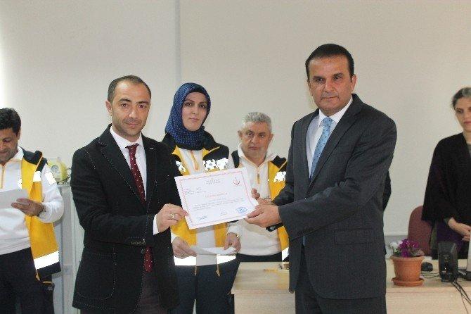 Belediye Personeline İlk Yardım Sertifikası Verildi
