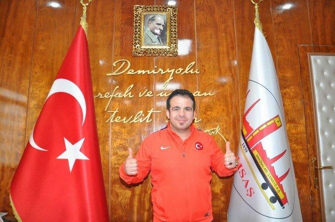 Şampiyon Engelli Güreşçiden, TÜDEMSAŞ'a Ziyaret