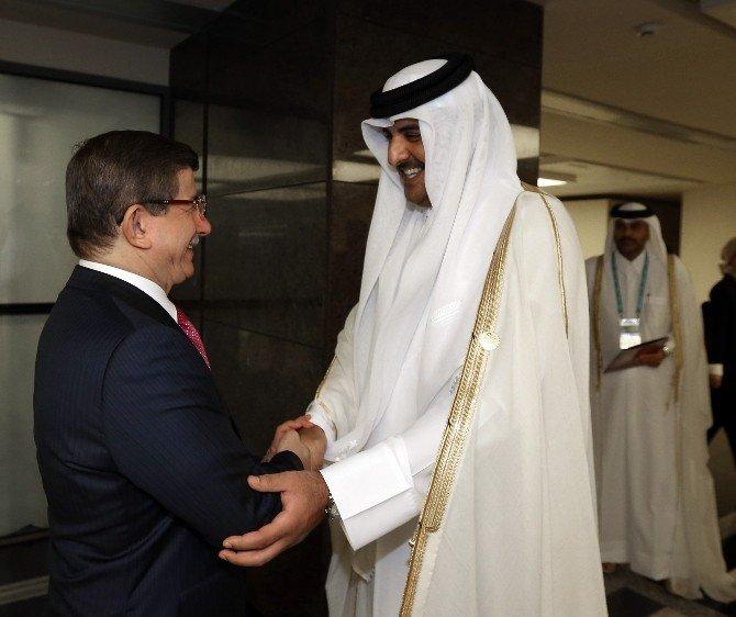 Başbakan Davutoğlu, Katar Emiriyle Görüştü