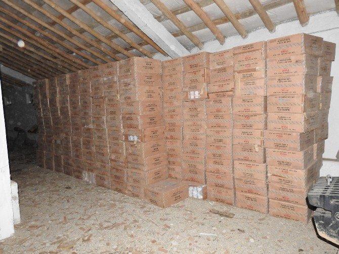 Yüksekova'da 311 Bin 500 Paket Sigara Ele Geçirildi