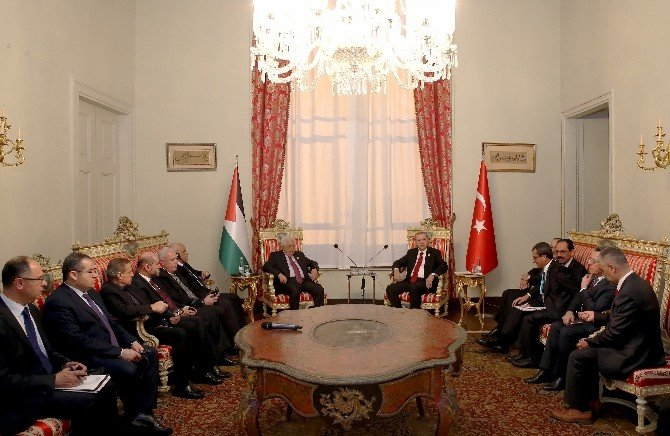 Cumhurbaşkanı Erdoğan, Filistin Devlet Başkanı Mahmut Abbas İle Görüştü