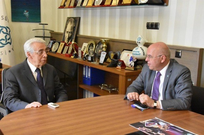 Eski İçişleri Bakanı Hasan Fehmi Güneş Başkan Eşkinat'ı Ziyaret Etti