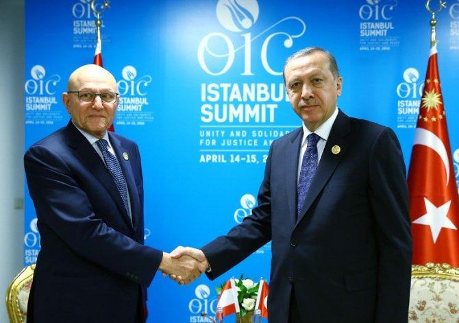 Cumhurbaşkanı Erdoğan, Lübnan Başbakanı Salam'ı kabul etti