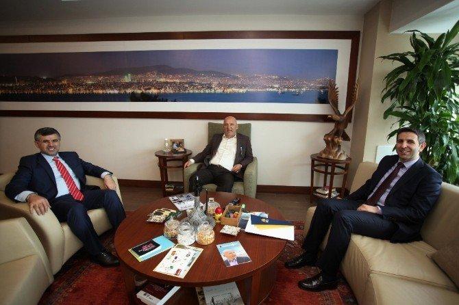 Başkan Hüseyin Keskin'den, Altınok Öz'e Ziyaret