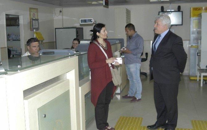 Başmüdür Cafer Ersoy, Malkara Postanesini Denetledi