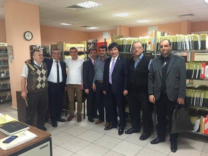 Türk Sağlık-sen Genel Başkan Yardımcılarından Türk Sağlık-sen Eskişehir Şubesine Ziyaret