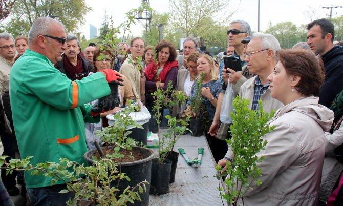 Çankaya'da 300 kursiyer bahçıvanlık belgesi aldı