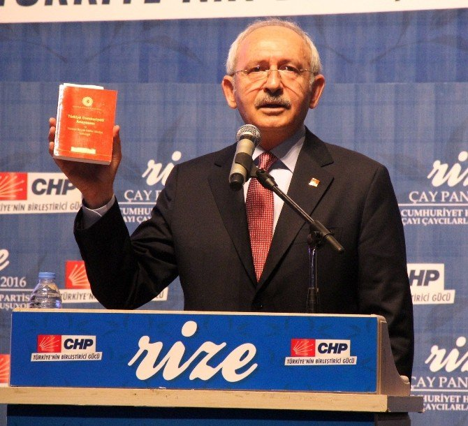 Kılıçdaroğlu Rize'den Hükümete Çağrıda Bulundu