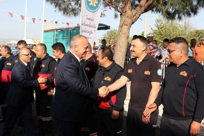Başkan Ergün, İtfaiye Erlerine Telsizden Seslendi