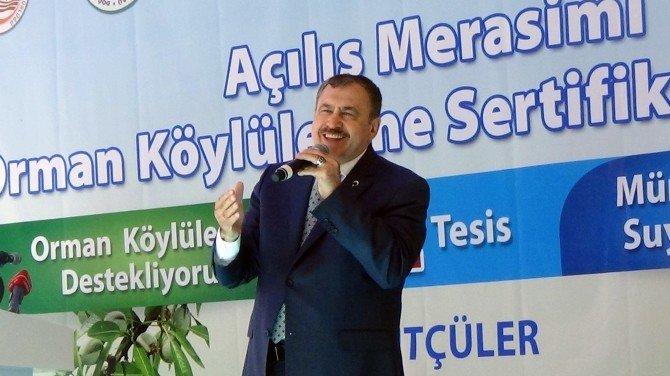 """Bakan Eroğlu: """"Su Akıyor Biz Yapıyoruz"""""""
