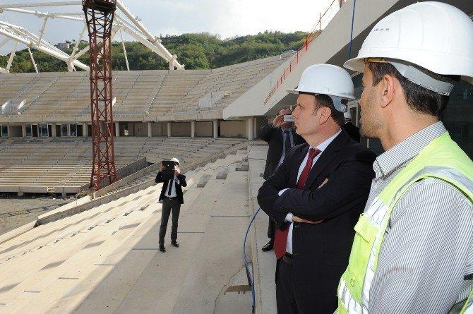 Spor Genel Müdürü Mehmet Baykan Trabzon'daki Spor Tesislerinde İncelemelerde Bulundu