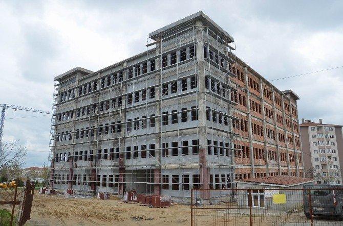 Çorlu Hükümet Konağı'nın Kaba İnşaatı Tamamlandı