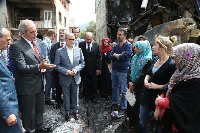 Yangının Yaralarını Büyükşehir Saracak