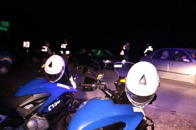 Motosikletli Jandarma Timlerinden Huzur Uygulaması
