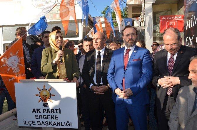 AK Parti Ergene İlçe Teşkilatı Binası Açıldı