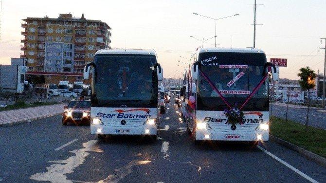 Otobüs Gelin Arabası Oldu