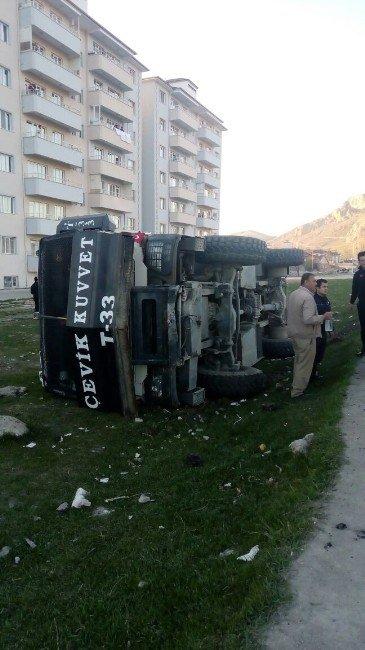 Van'da TOMA Yan Yattı