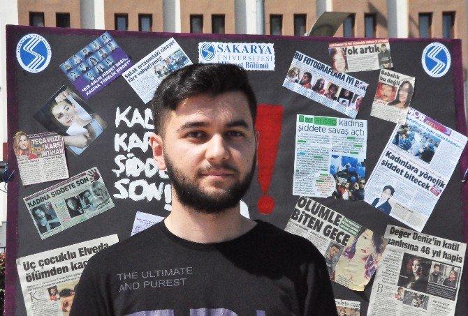 Üniversitelilerden Kadına Şiddete Karşı 'Makyajlı' Eylem