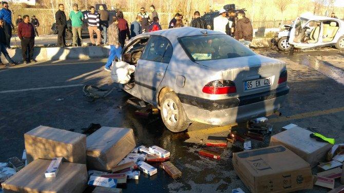 Van'da trafik kazası: 3 ölü, 2 yaralı