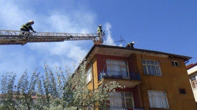 Aksaray'da Baca Yangını Korkuttu