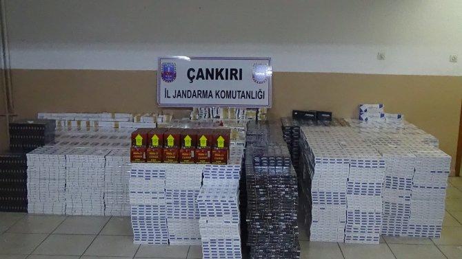 Hurma kolilerinde 43 bin paket kaçak sigara ele geçirildi