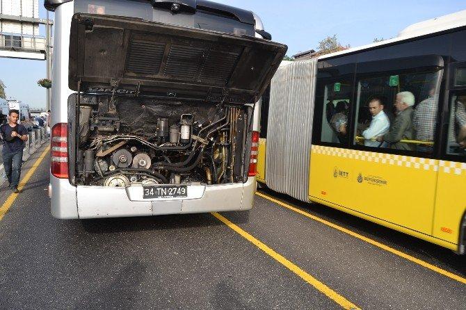 Metrobüs Yoluna Giren Şahıs Kazaya Sebep Oldu