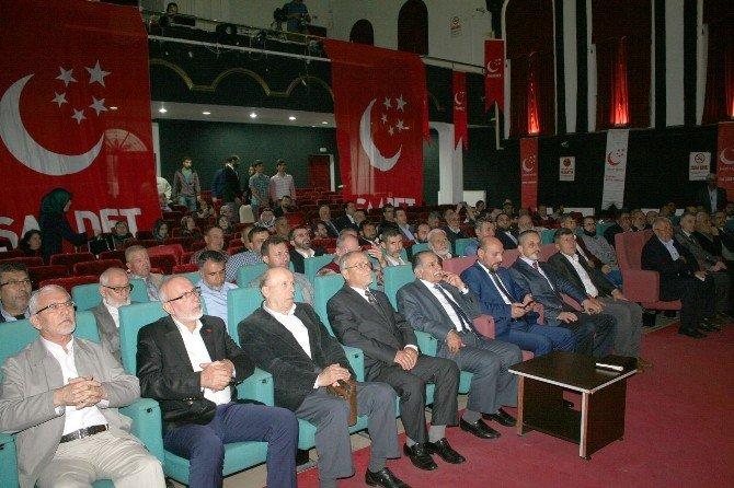 Mudanya'da Saadet Partisi Sakin'le Devam