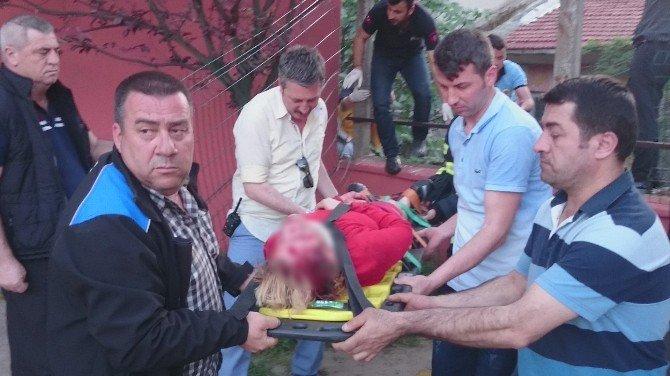 Balkondan İki Apartmanın Arasına Düşen Kadın Yaralandı