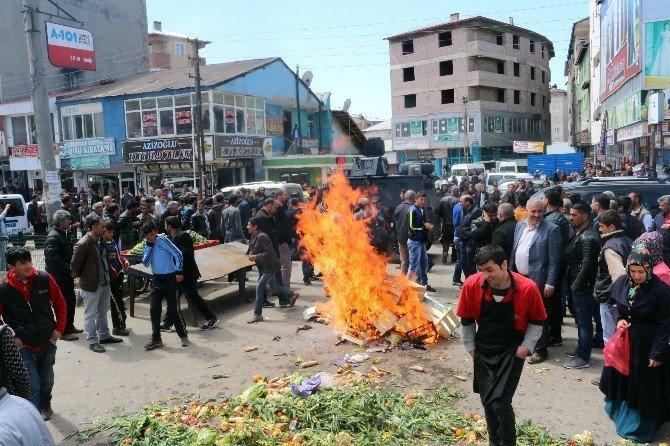 Ağrı'da Sebze Pazarı Esnafından Belediyeye İsyanı