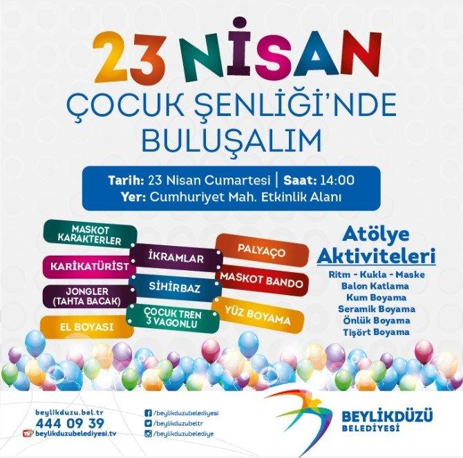 23 Nisan Çocuk Şenliği Beylikdüzü'nde Başlıyor