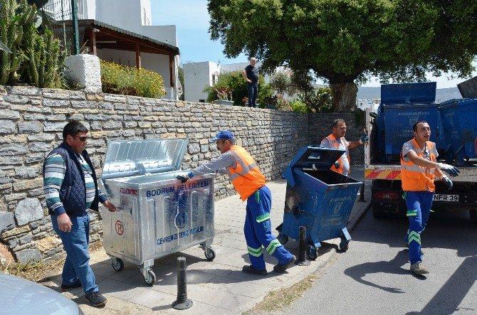 Bodrum'da Konteynerler Yenileniyor