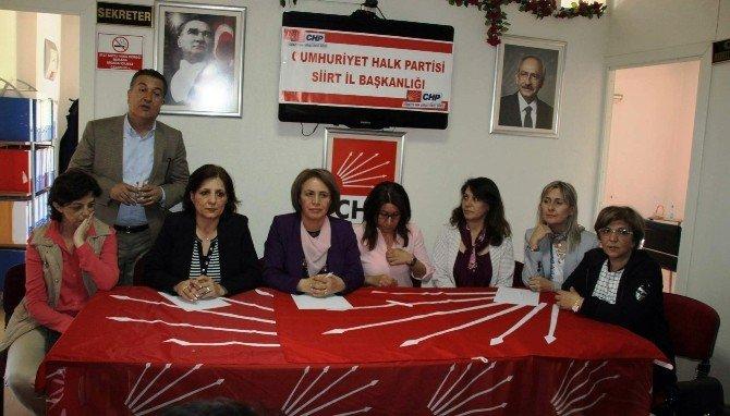 CHP Kadın Kolları Heyeti Siirt'te