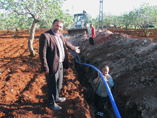 Gölete Dönen Fıstık Bahçesindeki Su Tahliye Edildi