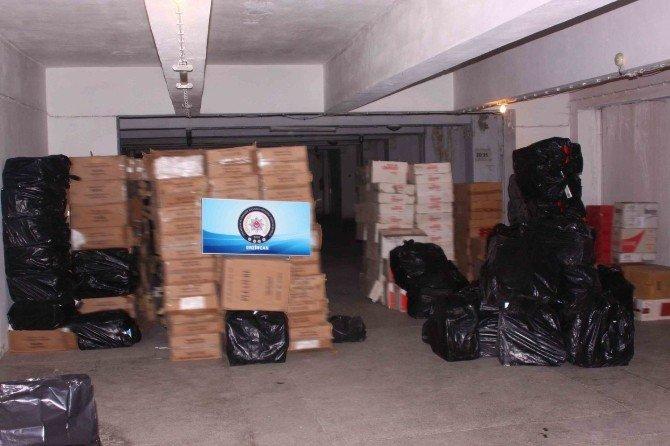 Erzincan'da 188 Bin 500 Paket Kaçak Sigara Yakalandı