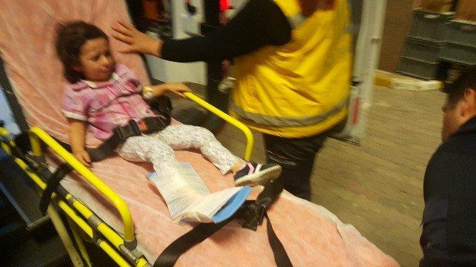 3 Yaşındaki Kızın Ayağı Asansöre Sıkıştı