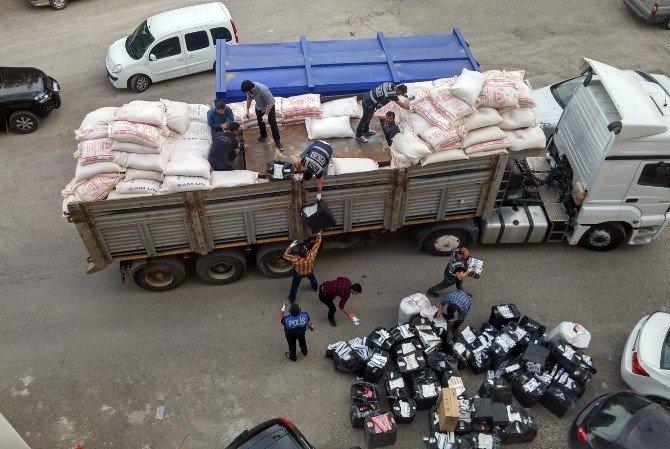 Mardin'de 79 Bin 546 Paket Kaçak Sigara Ele Geçirildi