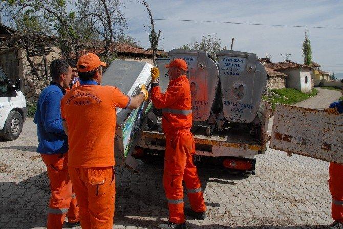 Çorum Belediyesi 42 Köyün Çöpünü Alacak